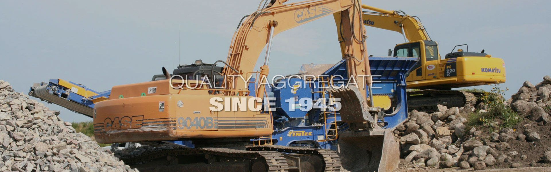 Quality Aggregate Since 1945 | excavators